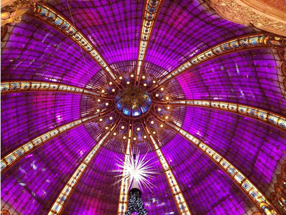 The famous Dome of Galeries Lafayette celebrates its 100th anniversary